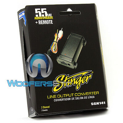 STINGER SGN141 PREMIUM LINE OUTPUT CONVERTER WITH REMOTE OUT for AMPLIFIERS NEW