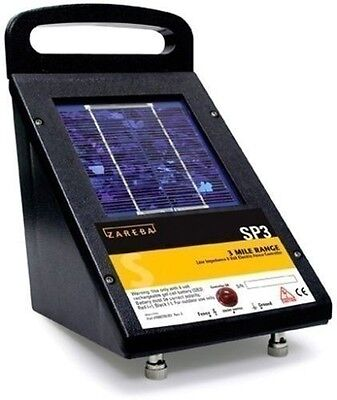 NEW ZAREBA SP3T 3 MILE SOLAR LOW IMPEDANCE ELECTRIC FENCER CHARGER SALE!!