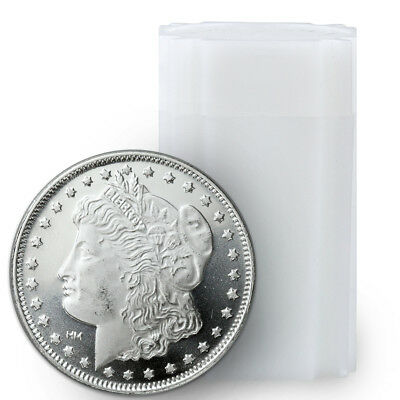 Roll of 20 - Morgan Dollar Design 1 Oz .999 Fine Silver Rounds SKU31049