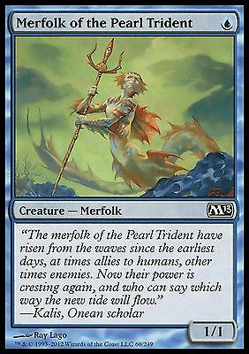 Merfolk of the Pearl Trident EX/NM x4 M13 Core Set MTG Magic Cards Blue Common