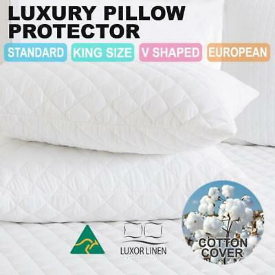 2x Standard Waterproof European V Shape Tri King Size Pillow Protector Case