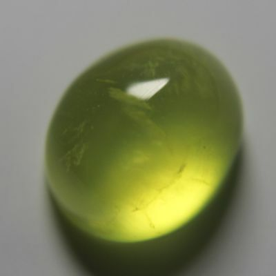 6.8 Carats Yellow Australia Prehnite Gemstone Oval Cabochon Unheated