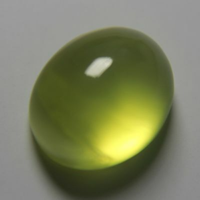 6.1 Carats Yellow Australia Prehnite Gemstone Oval Cabochon Unheated