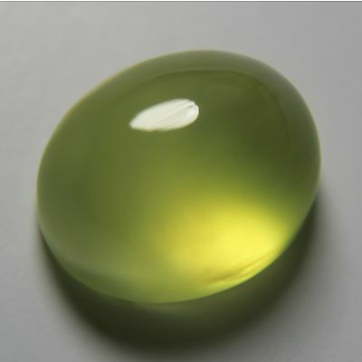 5.95 Carats Yellow Australia Prehnite Gemstone Oval Cabochon Unheated