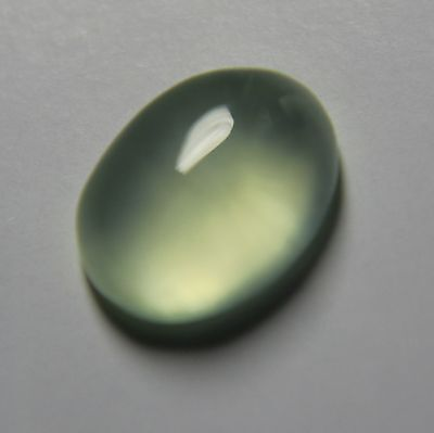 3.2 Carats Green and Blue Australia Prehnite Gemstone Oval Cabochon Unheated
