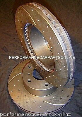 DRILL SLOTTED Toyota Landcruiser 78 & 79 Series FRONT Disc brake Rotors RDA7673D
