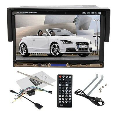 """7"""" Inch In Dash Single 1 Din Car CD DVD Player Touch Stereo USB SD Radio Audio"""