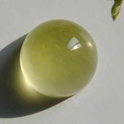 5.65 Carats Yellow Australia Prehnite Gemstone  Round Unheated