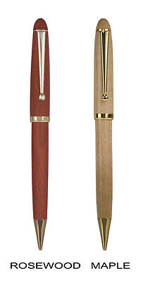 Personalized Wood Ballpoint Pens - Free Color Filled Engraving - Lot of 2