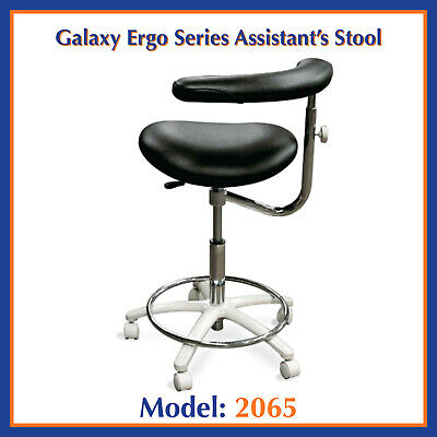 Galaxy 2065 Contoured Dental Assistant's Hygienist Seat Stool Chair