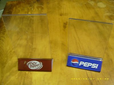 A Pair of Pepsi & Dr Pepper Menu Board Table Tent holders!