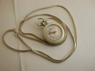 Late Victorian/Edwardian Antique Solid Silver Enamelled Ladies Fob Pocket Watch