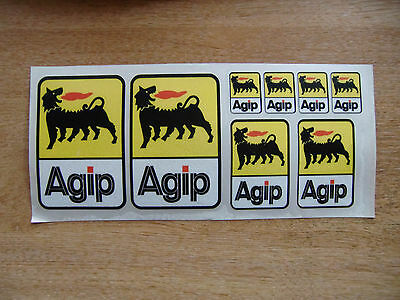 Agip logo sticker  kit - car / motorcycle decals