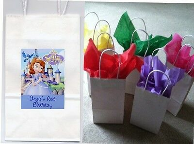 Sofia the First Party favor goody bags personalized set of 10
