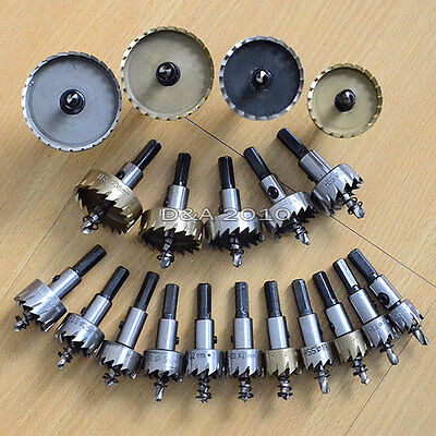16-80mm Stainless Steel Tipped Drill Bit Metal Hole Saw Cutter Heavy Duty