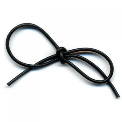 10 yds 2mm Black Round Real Genuine Leather Jewelry Beading Cord String