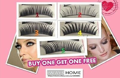 Makeup HANDMADE Thick Long False/Fake Eyelashes QUALITY Natural Party Extension