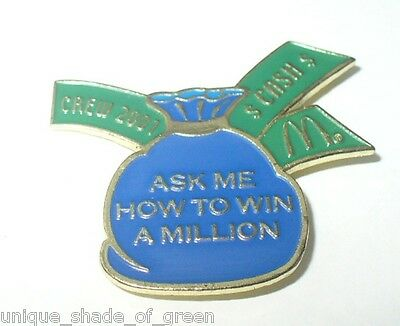 MCDONALDS/DISNEY  CREW 2001--ASK ME HOW TO WIN A MILLION-- PIN