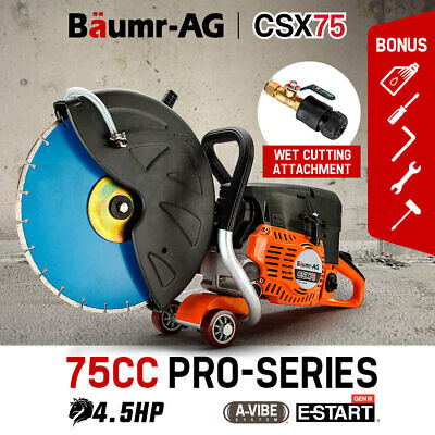 Baumr-AG 75cc Concrete Cut Off Demolition Saw Wet Demo Road Cutter Brick