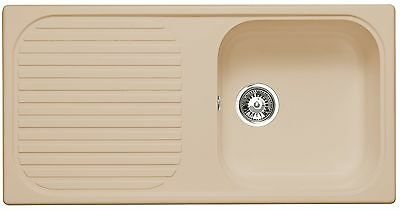 Astracast MSK 1.0 Bowl Composite Reversible Kitchen Sink in Champagne Beige