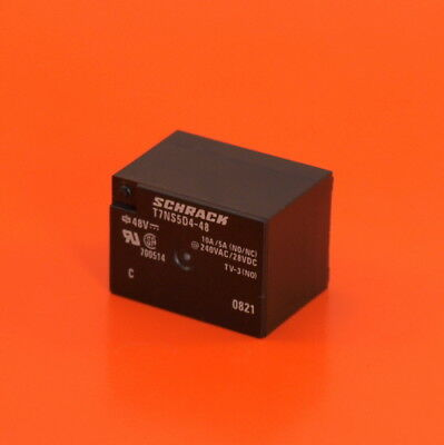 TE Connectivity / SCHRACK PCB 48VDC Relay, SPCO, Minature, Part No. T7NS5D4-48V