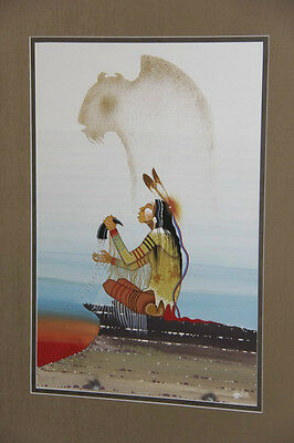 Larry Hood Vintage Original Painting/ Comanche/ Rance Hood's Brother