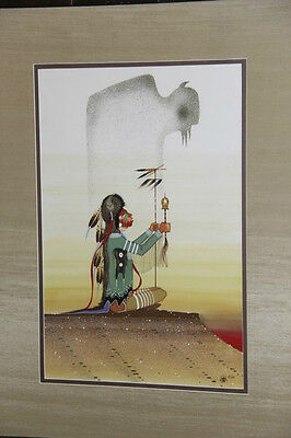 Larry Hood Vintage Original Painting/ Comanche / Rance Hood's Brother