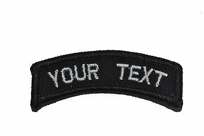 CUSTOMIZED Tab Military/Morale Patch with Hook and Fastener - Multiple Colors