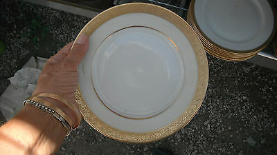 set of 6 hutschenreuther selb bread plate white w bands of gold favorite pattern. Black Bedroom Furniture Sets. Home Design Ideas