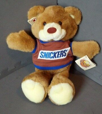"""Vintage Snickers Chocolate Chums 15"""" Chomper Plush - Heartline 1987 w/ Tags-Mars"""