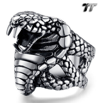 Top Quality TT 316L Stainless Steel Cross Punk Ring Silver//Gold RZ17 Size 8-14