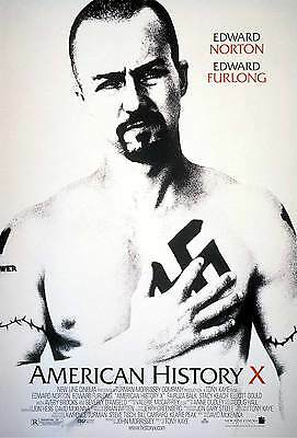 American History X DOUBLE SIDED ORIGINAL MOVIE Film POSTER Edward Norton RARE!