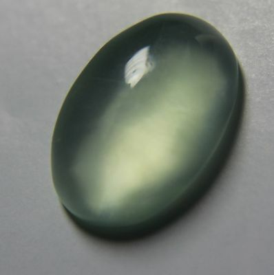 4.7 Carats Light Green Australia Prehnite Gemstone Oval Unheated