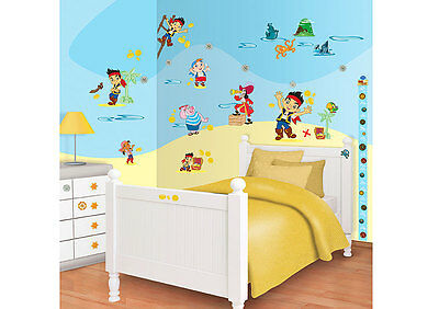 72 Wandtattoo Wandsticker Kinderzimmer Jake And the Neverland Pirates Piraten