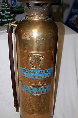 "VINTAGE "" ALFCO ""  BRASS AND COPPER  FIRE EXTINGUISHER  (EMPTY)"