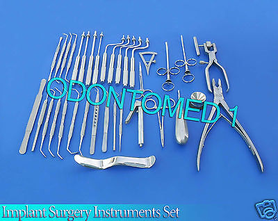 Implant Surgery Instruments Set of 52. Implantology Procedures Surgical