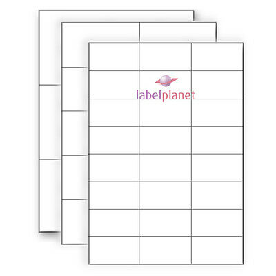 A4 White Rectangle Self-Adhesive Permanent Laser/Inkjet Printable Label Planet®