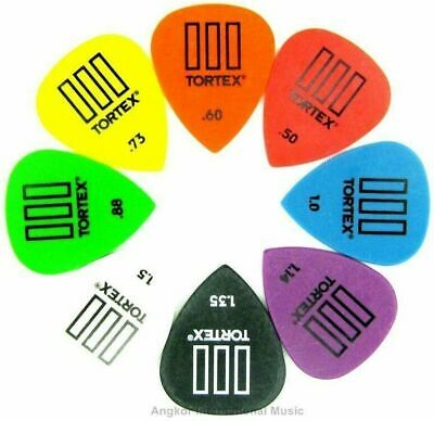 Dunlop Tortex TIII 8 Mixed Picks 8 x Assorted Jazz T3 Guitar Picks / Plectrums