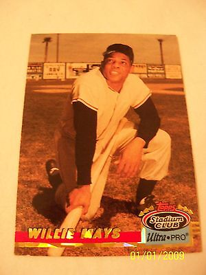 Baseball Card Willie Mays Topps Stadium Club Ultra Pro  #9 of 10 1993