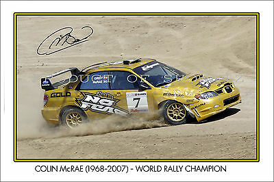 * COLIN McRAE * SIGNED RALLY WORLD CHAMPION POSTER PRINT, GREAT COLLECTABLE