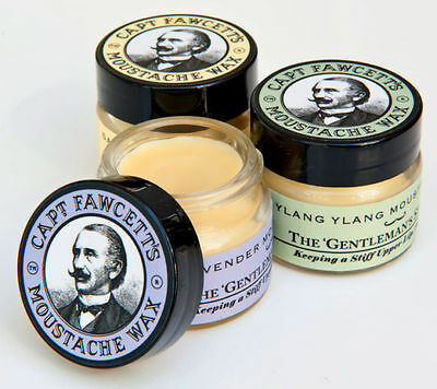 Captain Fawcett's Moustache Wax in Various Scents