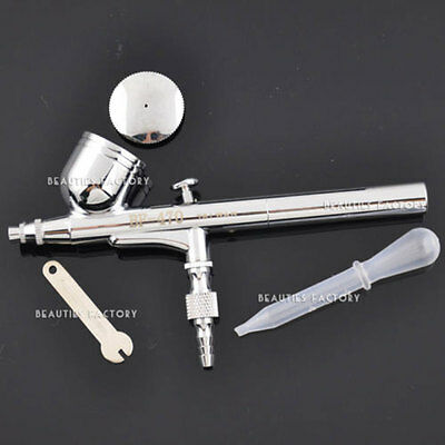 Dual Action Airbrush 0.3mm Needle Gravity Air Brush Spray Gun Paint Art Kit #80