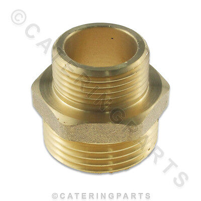 """Male 1"""" To 3/4"""" Brass Connector Straight Reducer Bush Adaptor For Bsp Pipework"""