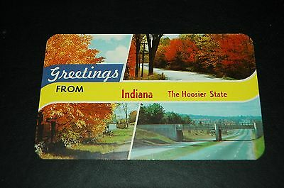 Greetings From Indiana The Hoosier State Trees Vintage Postcard Post Card