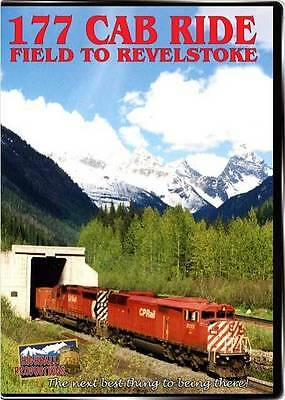 177 Cab Ride Field to Revelstoke 177CR Canadian Pac DVD New Highball Train Video