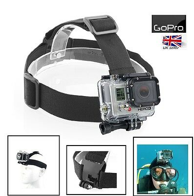 Adjustable Head Strap Mount for GoPro HD Hero 4 3+ 3 2 1 Helmet Camera Headstrap