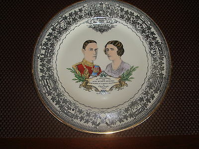KING GEORGE QUEEN ELIZABETH PLATE 1939 ROYAL WINTON GRIMWADES ENGLAND TO CANADA