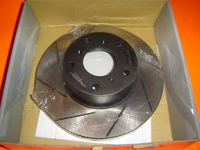 SLOTTED Ford EA EB ED Rear Disc Brake Rotors NEW PAIR with WARRANTY