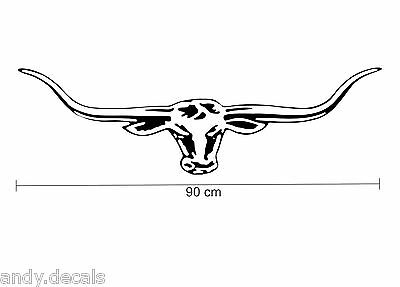 90cm RM WILLIAMS LONGHORN DECAL for UTE Truck, 4WD, Bull Horns Sticker, R.M, RMW