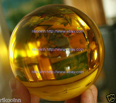 100 mm Awesome Ultra Clear Yellow Glass Quartz Crystal Sphere Ball